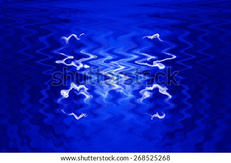 Abstract Blue Tone Color: Wavy Background style - stock photo