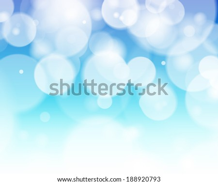 Abstract blue tone lights background. Blurred background.