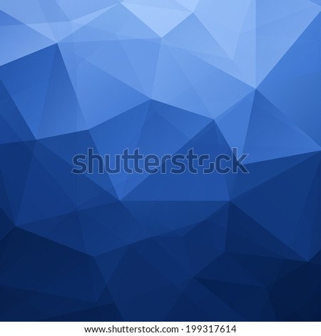 Abstract Blue Triangle Geometrical Background, Raster Version - stock photo