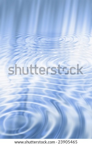 Abstract blue water ripples