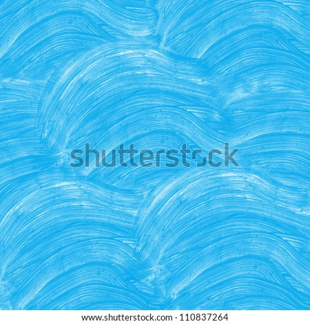 Abstract blue watercolor hand painted background - stock photo