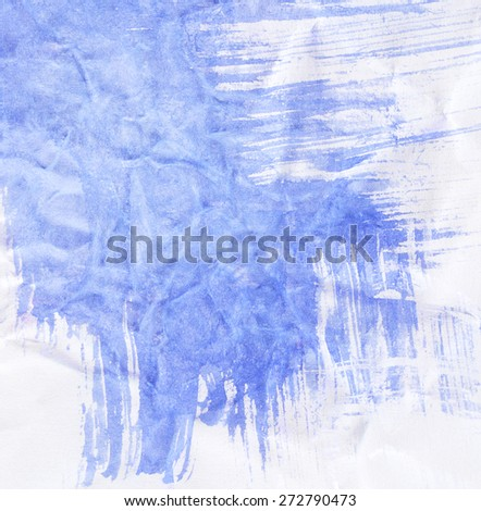 Abstract blue watercolor painting
