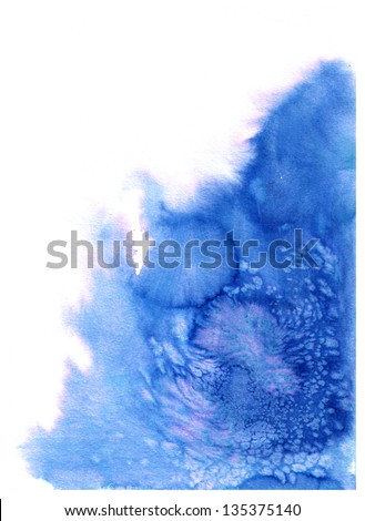Abstract blue watercolor splash