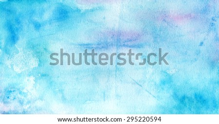 Abstract blue watercolour background - stock photo