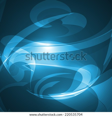 Abstract blue, wave background, futuristic illustration