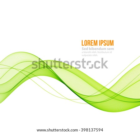 Abstract blue wavy lines. Colorful background