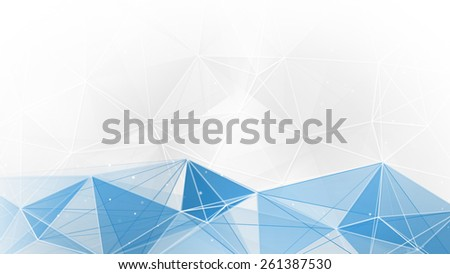 abstract blue white geometrical web background - stock photo
