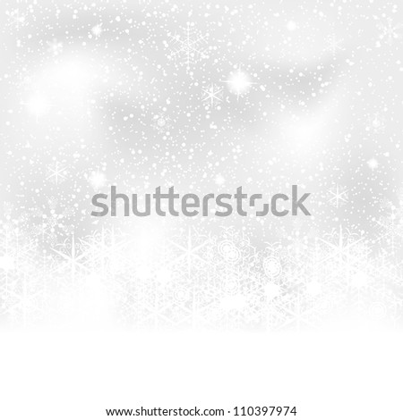 Abstract blue white winter background - stock photo