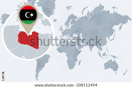 Infographic Libya Detailed Map Libya Flag Stock Vector 751043653