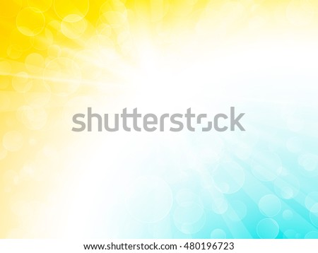 abstract blue yellow ray bokeh background