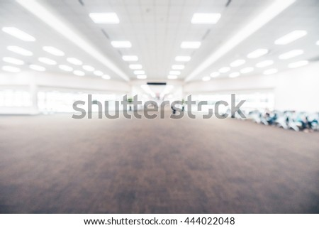 Abstract blur airport terminal interior for background - Vintage Filter