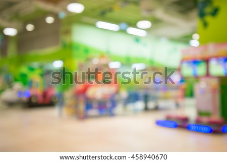 Abstract blur arcade game machine zone background - stock photo