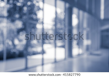 Abstract blur background from building hallway corridor - Color tone effect - stock photo
