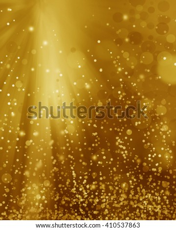 Abstract blur background light gold, soft and elegance..Christmas abstract bokeh.