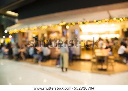 Restaurant Background With People abstract blur background defocus people sitting stock photo