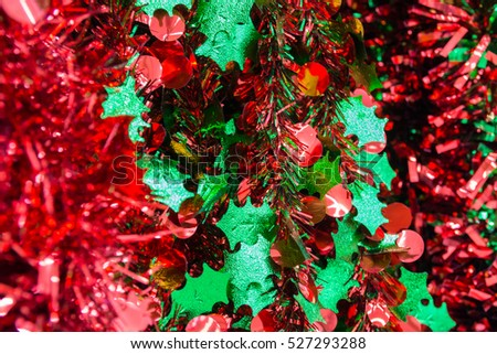 Abstract blur Background Pattern of Christmas Eve or Newyear Festival Elements Decorate on Christmas Tree