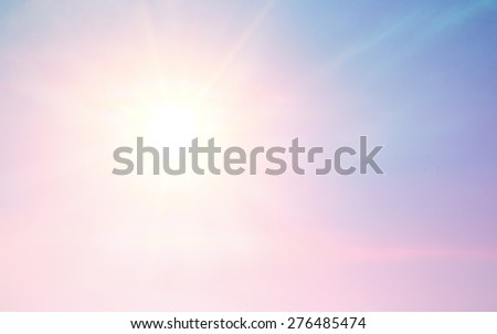 abstract blur background with bright sun light - stock photo