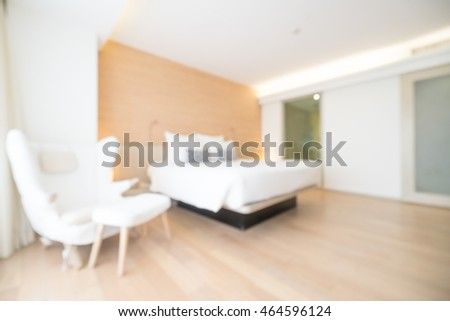 Abstract blur beautiful luxury bedroom decoration interior for background