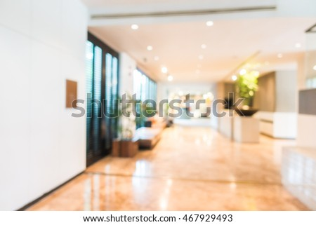 Abstract blur beautiful luxury hotel and lobby interior for background