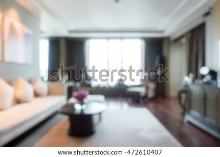 Abstract blur beautiful luxury living room interior for background
