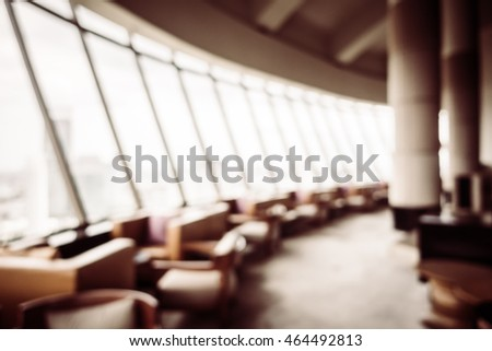 Abstract blur beautiful luxury restaurant interior for background - Vintage Filter