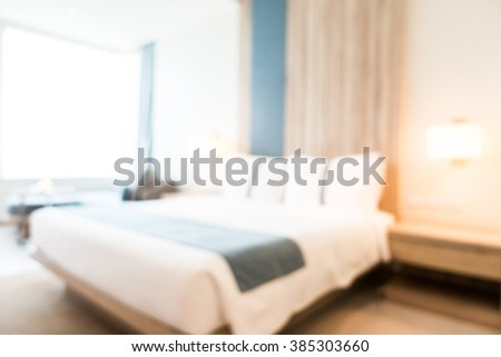 Abstract blur bedroom interior for background - Vintage Filter