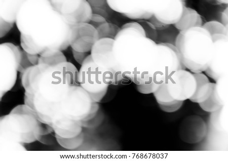Abstract blur black bokeh background