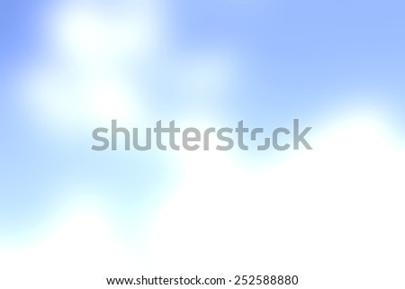 Abstract blur blue sky and clouds natural background - stock photo