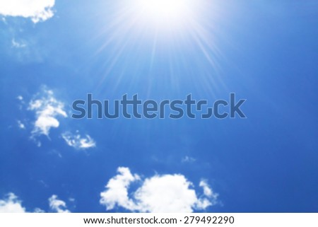 abstract blur blue sky background, out of focus - stock photo