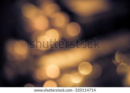 Abstract blur bokeh defocused of light in city  split-tone background - stock photo