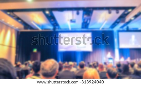 Abstract blur Business Conference and Presentation - stock photo