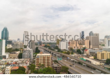 Abstract blur city background