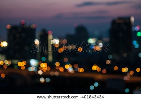 Abstract blur city night light.background - stock photo