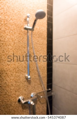 Abstract blur decoration in bathroom for background