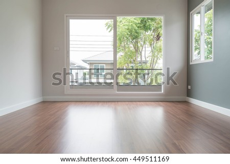 Abstract Blur Empty Door In Living Room Interior Background