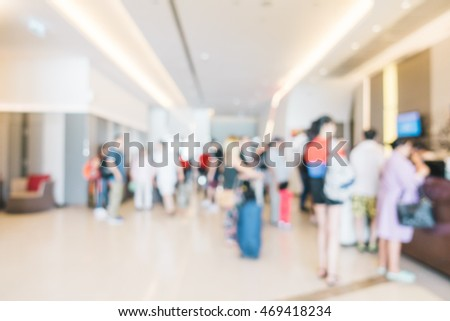 Abstract blur hotel lobby interior for background