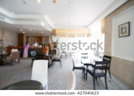 Abstract blur hotel lobby room interior for background - Vintage light Filter