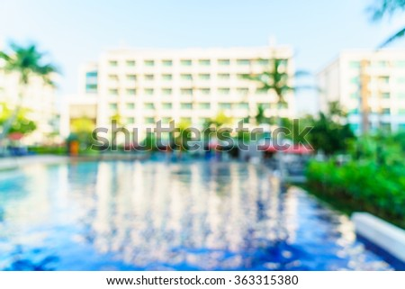 Abstract blur hotel pool resort background - stock photo