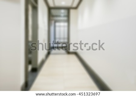 Abstract blur image of hospital corridor background