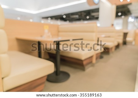 abstract blur in restaurant for background