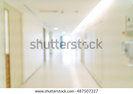 abstract blur interior in hospital for background