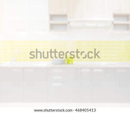 Abstract  Blur Kitchen Room of The Background