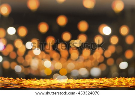 Abstract blur light. Candle, Candlemas, Christmas, Nativity, Story, Lit, Light, Manger, Church, Buddhist, Lent, Travel, Night, Bright, Golden, Religion, Temple, Flame, Dark, Art, Day, 2017 - stock photo