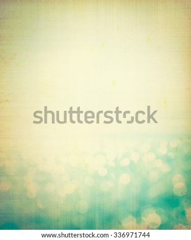 abstract blur light on  sea and ocean background for summer season with vintage effect - stock photo