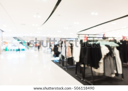 Abstract blur luxury department retail store and shopping mall interior for background