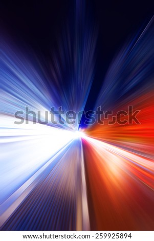 Abstract blur modern cityscape background at night
