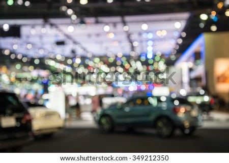 Abstract blur motor show fair background