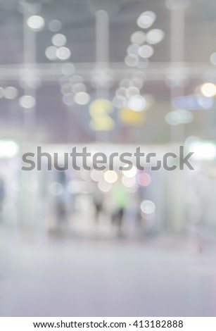 abstract blur multicolor background of building door in mall with bokeh light - stock photo