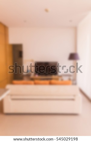 Abstract blur of small living room modern style villa