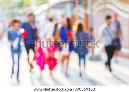 Abstract blur people in outdoor activity, modern lifetyle